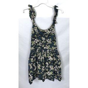 Free People Blue Floral Mini Dress Size XS